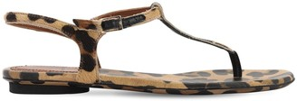 L'Autre Chose 10mm Leopard Print Pony Skin Sandals
