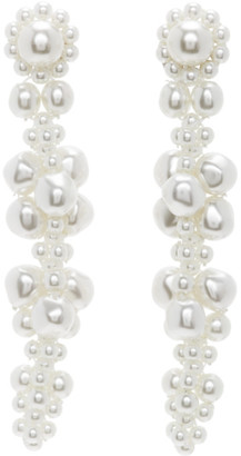 Simone Rocha White Cluster Drip Earrings