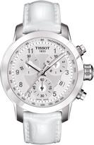 Tissot Women's PRC200 Danica Patrick 2013 Embossed Leather Strap Watch, 34mm
