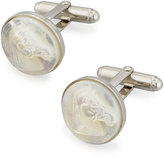 David Donahue Mother-Of-Pearl Horse Cuff Links, White/Silver