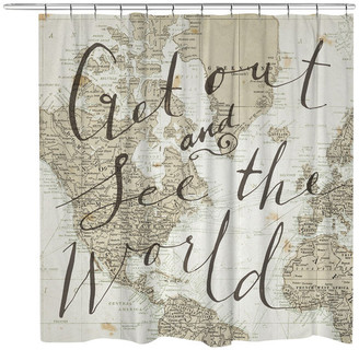 Laural Home Get Out and See the World Shower Curtain