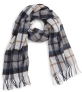 Nordstrom Men's Plaid Cashmere Scarf