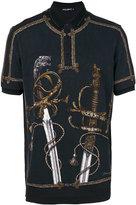 Dolce & Gabbana sword print polo shirt
