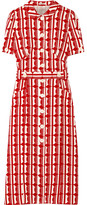 Miu Miu Printed Crepe De Chine Midi Dress - Red