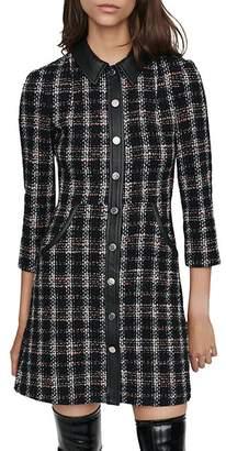 Maje Renaty Tweed Mini Dress