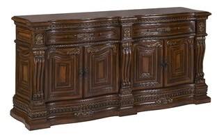 "Benetti's Italia Sicily 84"" Wide 2 Drawer Mahogany Wood Sideboard"