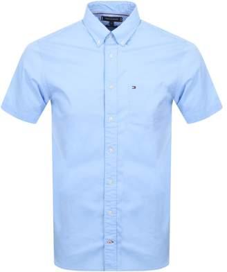 Tommy Hilfiger Short Sleeved Poplin Shirt Blue