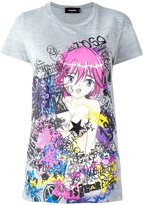 DSQUARED2 graffiti print cartoon T-shirt