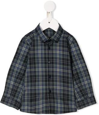 Il Gufo Long-Sleeved Plaid Shirt