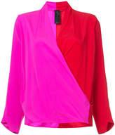 Zero Maria Cornejo two-tone blouse
