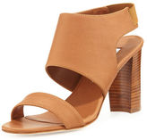Manolo Blahnik Loyal Leather Block-Heel Sandal