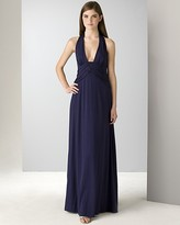 Laundry by Shelli Segal Halter Gown with Trapunto Inset