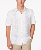 Tasso Elba Men's Embroidered Leaf Shirt, Only at Macy's