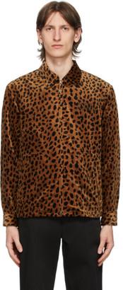 Wacko Maria Orange Leopard Drizzler Jacket