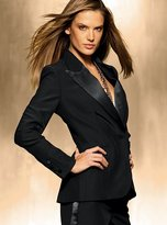 Tuxedo suit jacket with satin lapel