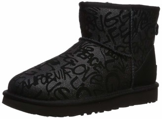 UGG Women's Classic Mini Sparkle Graffiti Fashion Boot
