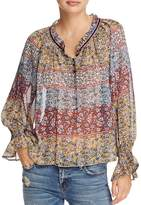 Beltaine Floral Peasant Top