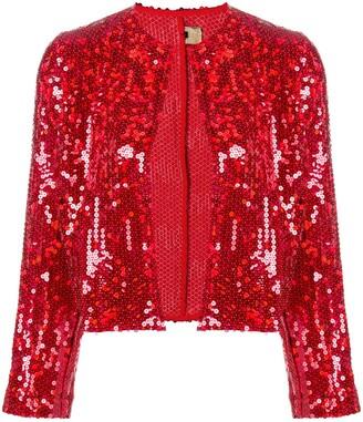 Comme des Garcons Pre-Owned 1999 sequin embellished cropped jacket