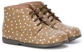 Pépé star print boots - kids - Goat Skin/Leather/rubber - 20