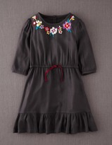 Boden Embroidered Flippy Dress
