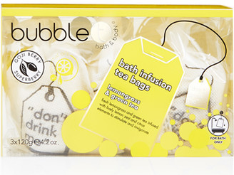 Bubble T Bath & Body Bath Infusion Tea Bags Lemongrass & Green Tea 3 x 120g