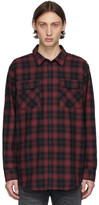 Nudie Jeans Black and Red Gabriel Shadow Check Shirt