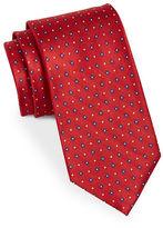 Black Brown 1826 Floral Silk Tie