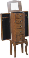 Asstd National Brand Olivia Oak Jewelry Armoire