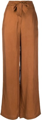 L'Autre Chose High-Waisted Front Tie Trousers