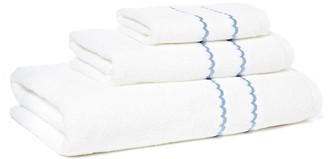 Hamburg House 3-Pc Double Scallop Towel Set - Blue