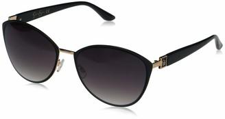 Jessica Simpson Women's J5329 Metal Enamel UV Protective Cat-Eye Sunglasses | All-Season | A Glam Gift 60 mm