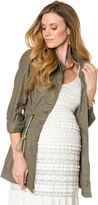 A Pea in the Pod Cargo Pockets Linen Blend Maternity Jacket