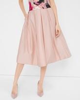 White House Black Market Taffeta Midi Skirt
