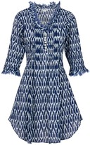 At Last... Cotton Annabel Tunic- Navy Ikat
