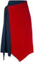 Versace asymmetric crepe skirt - women - Silk/Viscose - 38