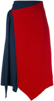 Versace asymmetric crepe skirt