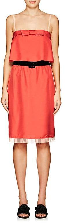 Marc Jacobs WOMEN'S BELTED SILK SLEEVELESS DRESS