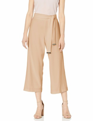 Calvin Klein Women's Culotte with Tie-Belt