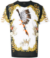 versace native american tribute t shirt damen. Black Bedroom Furniture Sets. Home Design Ideas