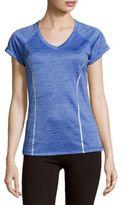 Reebok Short-Sleeve Textured Top
