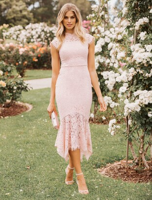 Forever New Frankie Lace Maxi Dress - Blush - 4