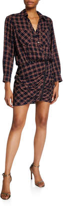 Veronica Beard Karen Plaid Shirtdress with Zipper Detail