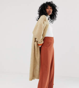 Weekday wide leg trousers in rust-Red