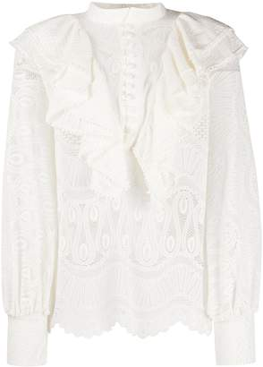 Soallure So Allure embroidered lace blouse