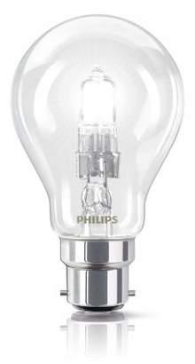 Philips EcoClassic Standard lamp Halogen Bulb - halogen bulbs (Bulb, B22, Clear, C, Warm white, Hg (mercury))
