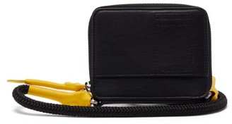Rick Owens Small Coated-cord Leather Cross-body Bag - Black