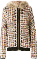 Blumarine fox fur trim jacket - women - Fox Fur/Acrylic/Polyamide/Virgin Wool - 40
