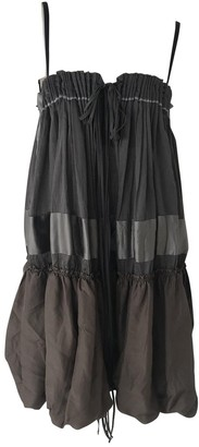 Gianfranco Ferre Khaki Cotton Dress for Women