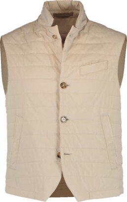 Eleventy Nylon Button Vest