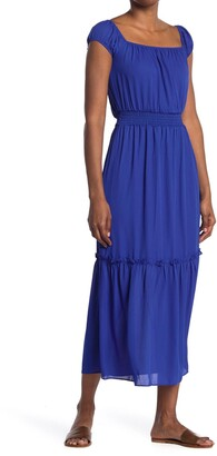 NSR Maxi Dress w/ Smocked Waist